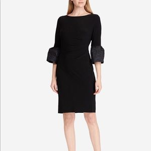 Ralph Lauren Women's Ruffle Sleeve Sheath Dress